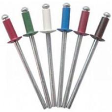 Заклепки вытяжные крашенные алюминий/сталь