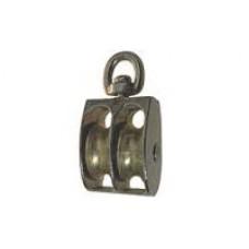 Блок такелажный двойной металлический шкив BK-Duplex M40